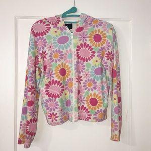 Flower power hoodie jacket